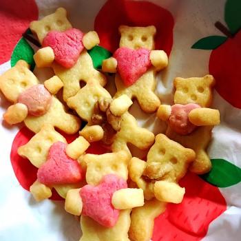 バレンタイン 抱っこぐまクッキーを作ってみよう!|ビタミンi家庭科部