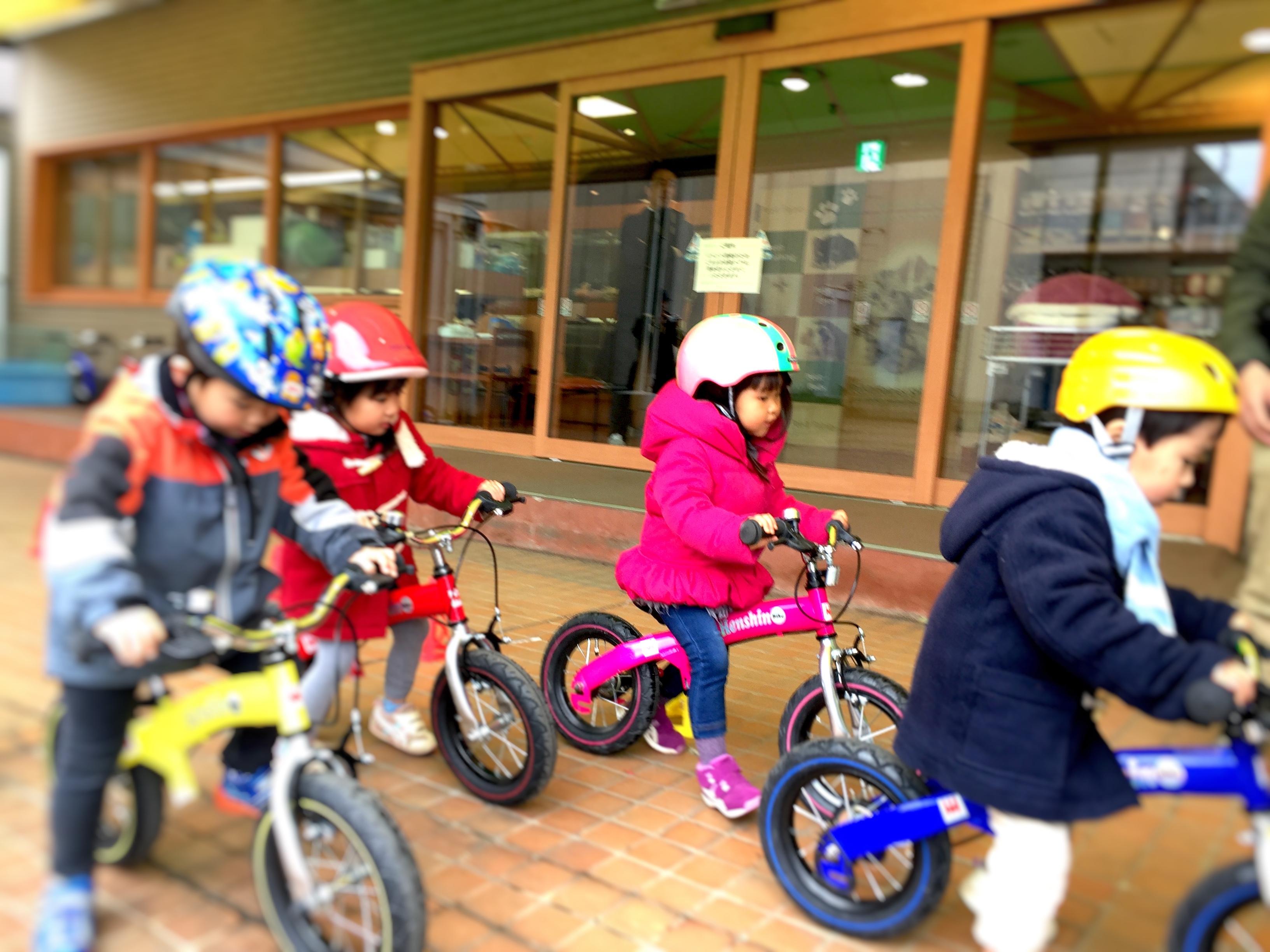 ミーちゃん_自転車教室
