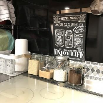 カフェ風キッチンに簡単アレンジ|ママでも簡単プチプラDIY
