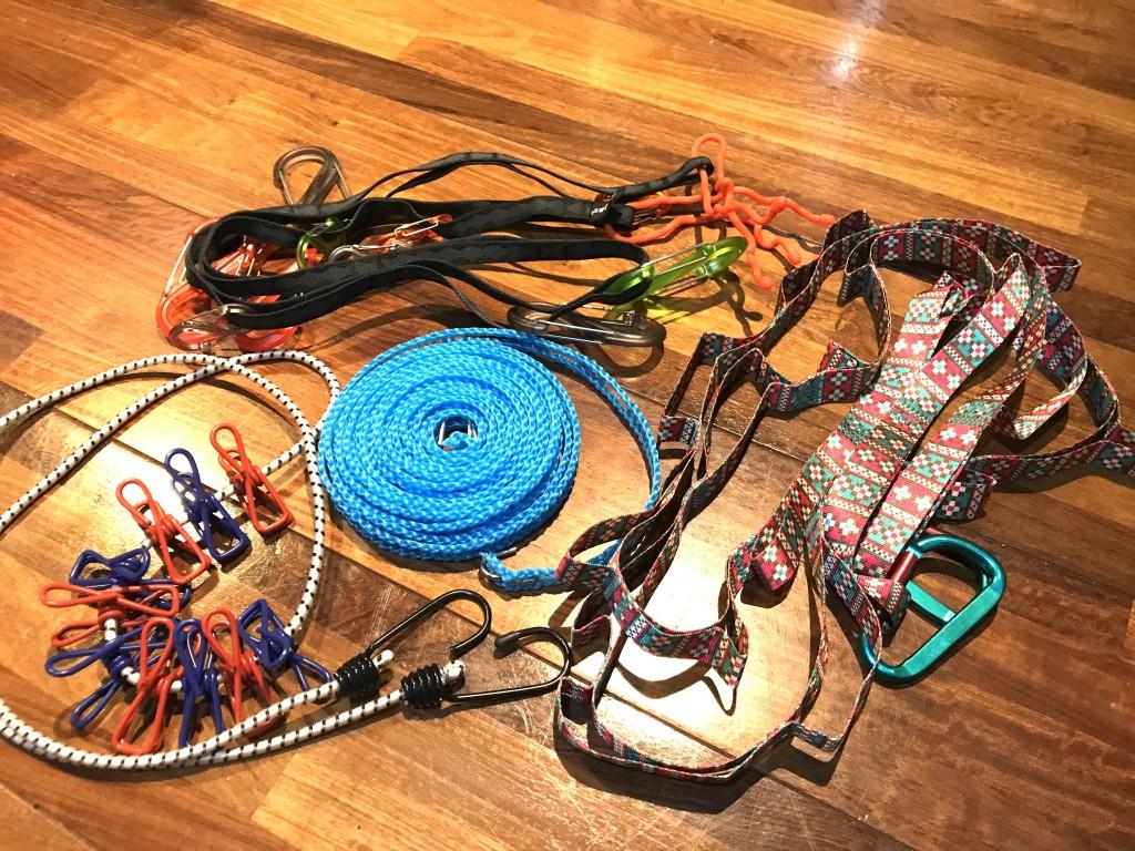 キャンプ小物特集 洗濯ロープ