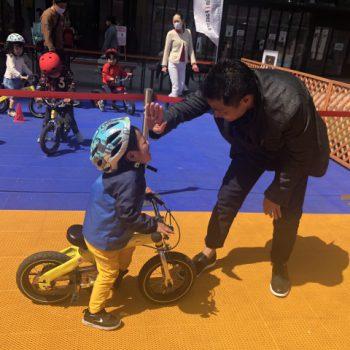 3~6歳の子どもたちが楽しく自転車デビュー!@赤坂サカス|30分で乗れる自転車教室