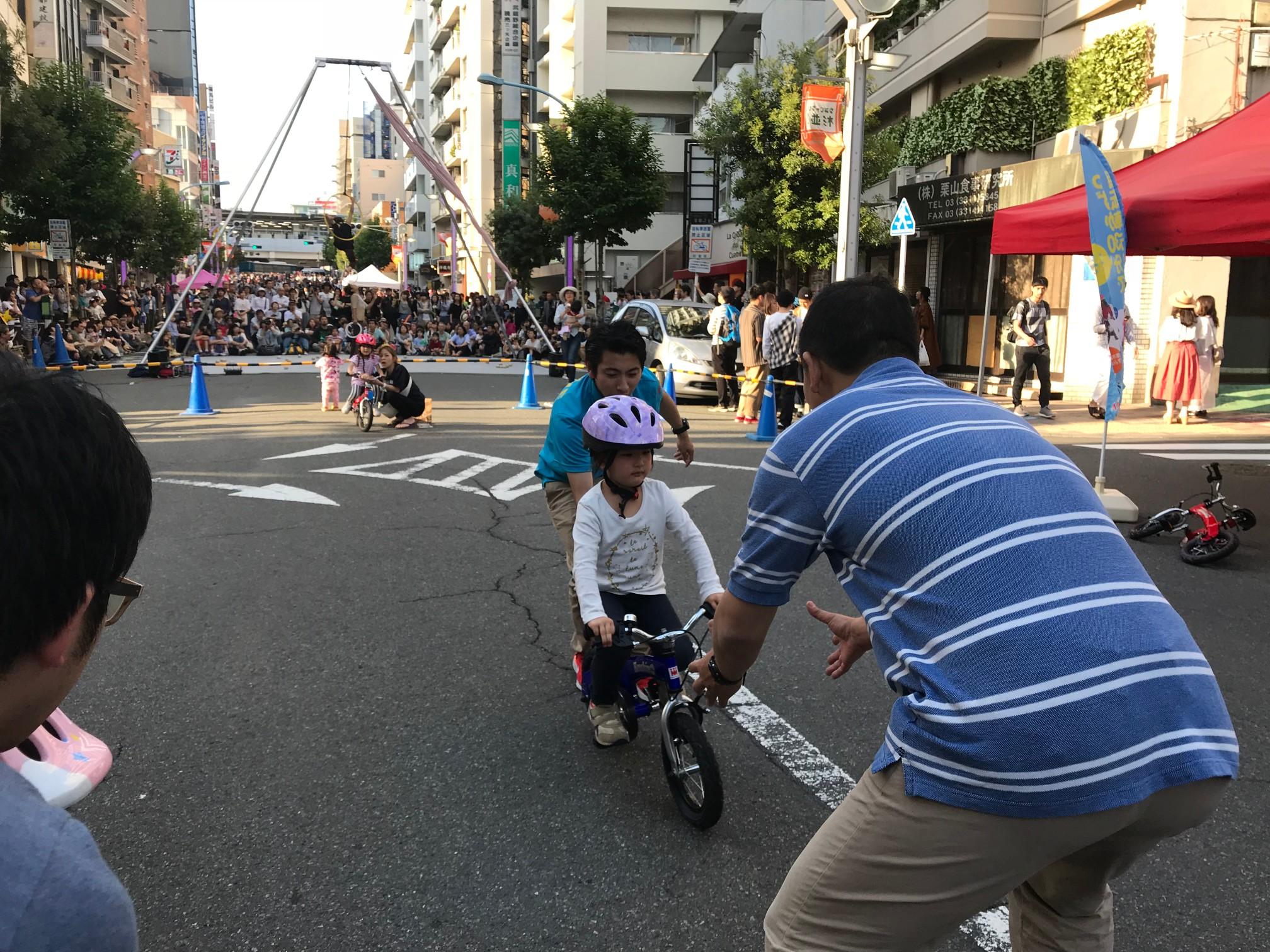 #高円寺 #びっくり大道芸 #へんしんバイク #30分で乗れる自転車教室 #交通安全教室