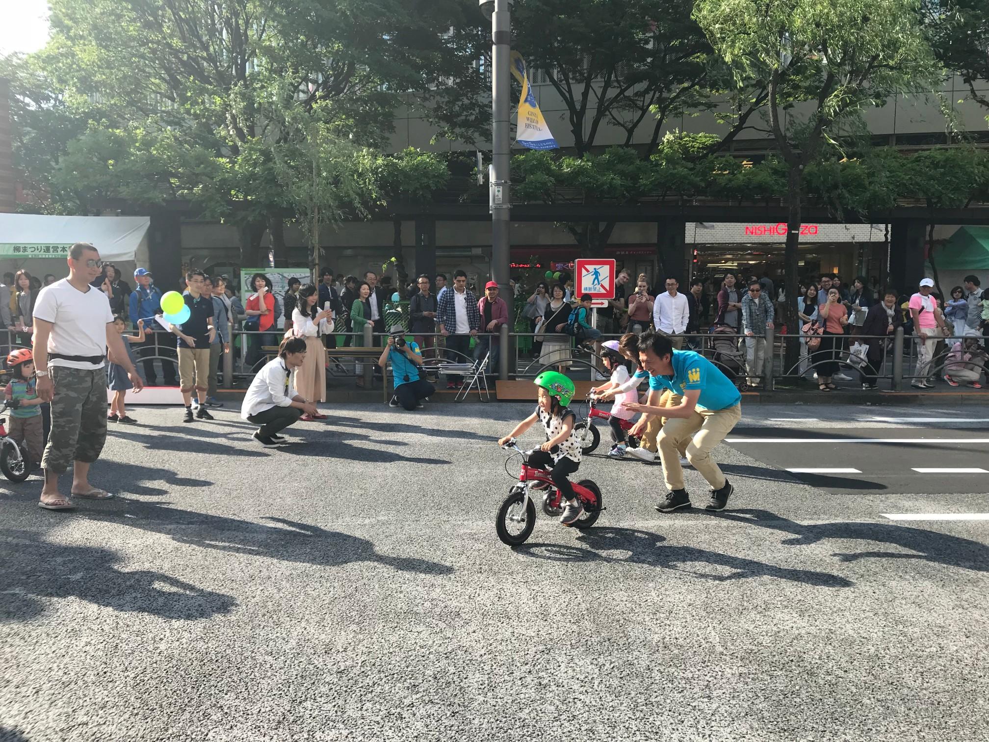 #へんしんバイク #30分で乗れる自転車教室 #銀座 #柳まつり